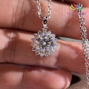 Jewelry - 💸 Sun Flower Shape Clear Crystal Necklace SS .925
